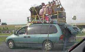 Overloaded Minivan