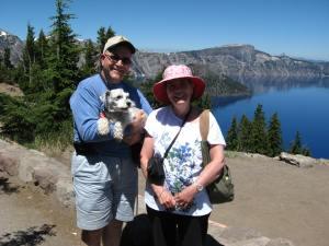 Enjoying a trip to Crater Lake.