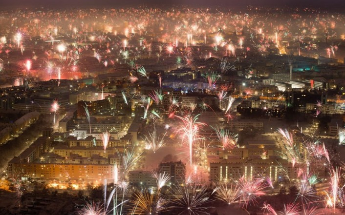 New Year Celebration in Munich, Germany